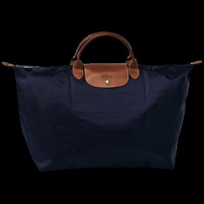 f70b4432f21 Longchamp Le Pliage travelbag/reistas Navy blue