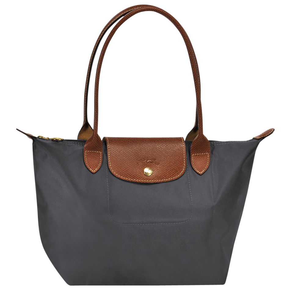 longchamp le pliage shoulderbag schoudertas s gunmetal. Black Bedroom Furniture Sets. Home Design Ideas