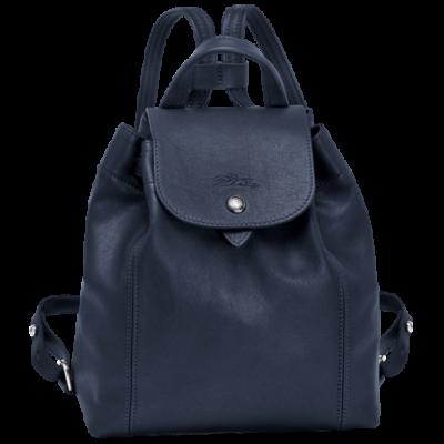 d7263559c0f Longchamp Le Pliage Cuir Backpack / Rugzak XS Navy
