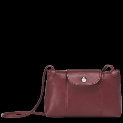 c230797c790 Longchamp Le Pliage Cuir Crossbodybag Red Laquer