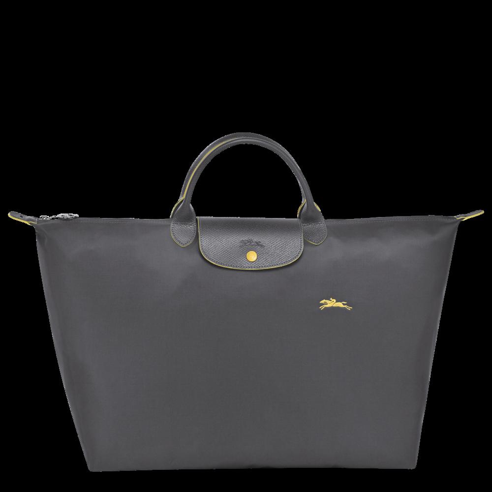 4e56391662b Longchamp Le Pliage Club Travelbag/reistas L Gun Metal - De Groen BV