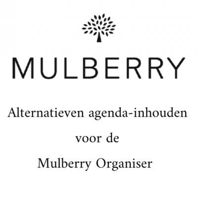 Alternatieven voor de Mulberry agenda-omslag