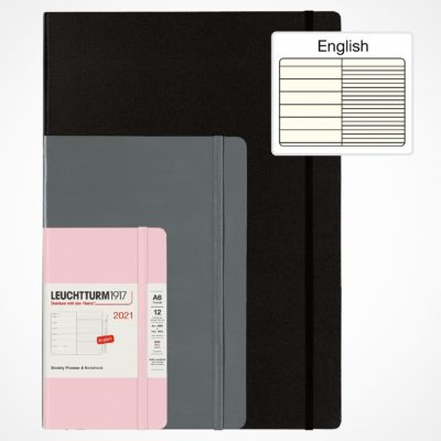 Leuchtturm1917 A5 Medium Weekly Planner & Notebook Hardcover